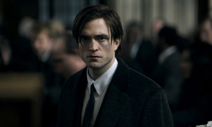 Actor Robert Pattinson in a scene from 'The Batman,' a film from director Matt Reeves. (Courtesy of Warner Bros. Pictures)