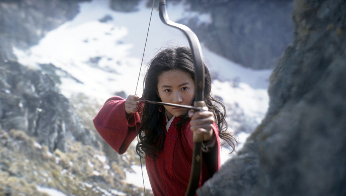 "Yifei Liu in the title role of ""Mulan."""