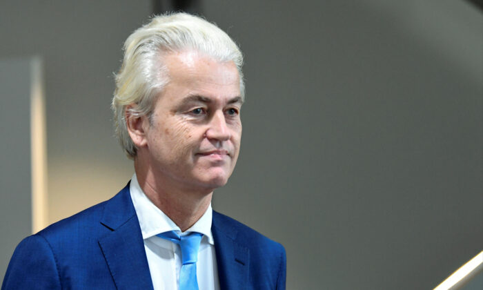 Dutch anti-Islam politician Geert Wilders leaves the court following the verdict in his appeal in Schiphol near Amsterdam, on Sept. 4, 2020. (Piroschka van de Wouw/Reuters)