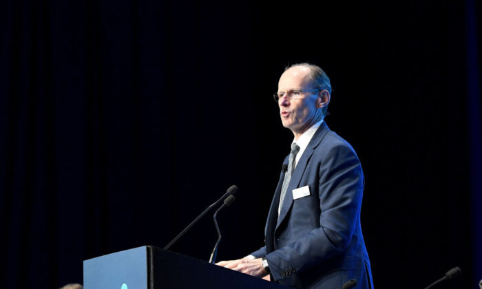 The CEO of ANZ Shayne Elliott speaks at the ANZ annual general meeting at the Brisbane Convention & Exhibition Centre on December 17, 2019 in Brisbane, Australia. (Bradley Kanaris/Getty Images)