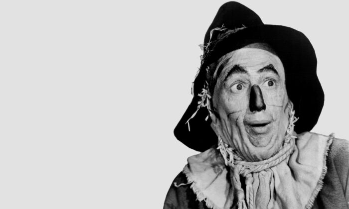 "Publicity photo of actor Ray Bolger promoting his role as the Scarecrow in the 1939 feature film, ""The Wizard of Oz."" (Public Domain)"