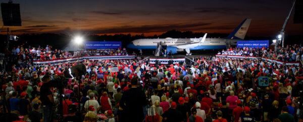 Donald Trump Holds Campaign Event In Latrobe, PA