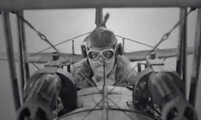 "David Niven in ""The Dawn Patrol,"" a film with excellent aerial battles. (Warner Bros)"