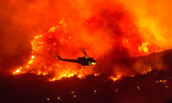 California wildfire helicopter