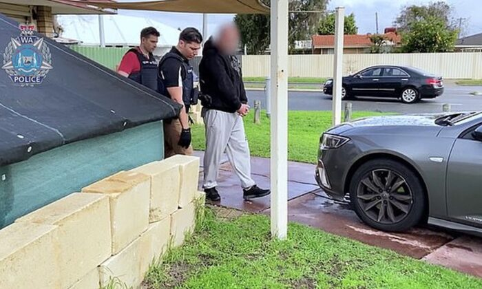 At least 18 were arrested in the incident. (Western Australia Police)