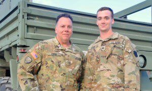 Deployed Father and Son Get Promoted Together, Pin Each Other Their New US Army Ranks