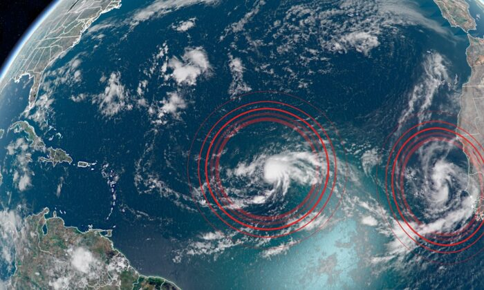 Tropical Storm Paulette formed in the Atlantic on Sept. 7, 2020, and Rene will form soon, says the National Hurricane Center. (CNN Weather)