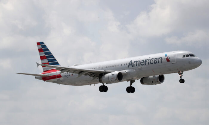 An American Airlines plane prepares to land at the Fort Lauderdale-Hollywood International Airport in Fort Lauderdale, Fla., on July 16, 2020. (Joe Raedle/Getty Images)