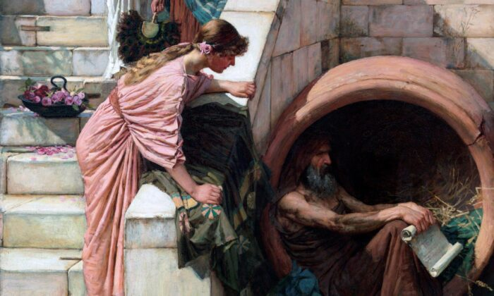 "A detail from ""Diogenes,"" 1882, by John William Waterhouse. Oil on Canvas, 82 inches by 53 inches. Art Gallery of New South Wales, Sydney, Australia. (Public Domain)"