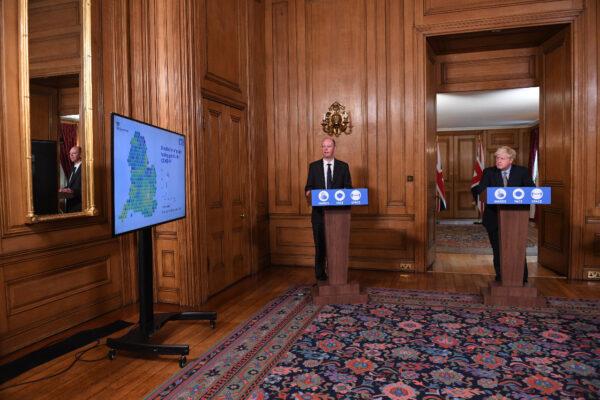 Chris Whitty and Boris Johnson
