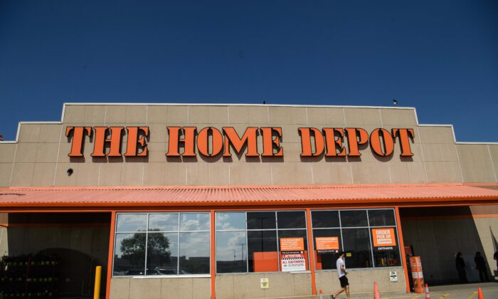 A Home Depot store is seen in Washington, on Aug. 18, 2020. (Nicholas Kamm/AFP via Getty Images)