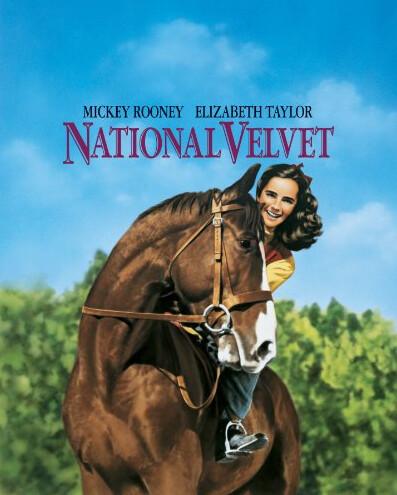 """poster of girl riding horse from """"National Velvet"""""""