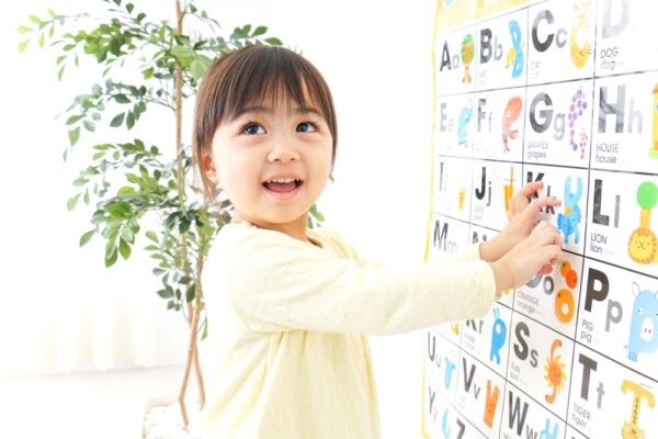 toddler learning a language