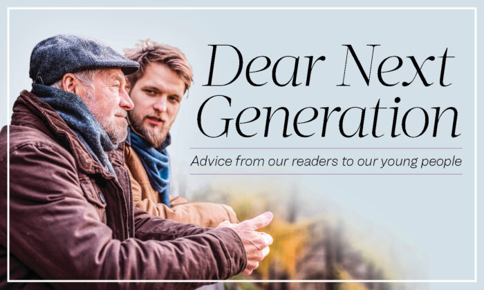 "The Epoch Times new advice column from readers, ""Dear Next Generation."" (photo by Shutterstock)"