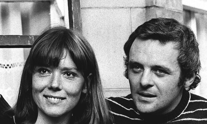 British actress Diana Rigg and actor Anthony Hopkins attend the opening night of Macbeth at the National Theatre, in London, UK, on Sept. 20, 1972. (Bob Dear/AP Photo)