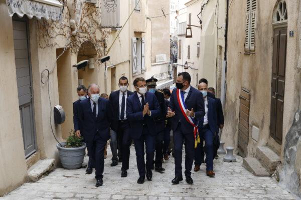 Emmanuel Macron visit Bonifacio