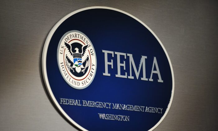 The logo of the Federal Emergency Management Agency (FEMA) is seen at its headquarters in Washington in this file photo. (Mandel Ngan/AFP via Getty Images)
