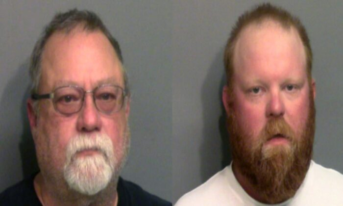 Gregory McMichael and his son Travis McMichael were each charged with murder and aggravated assault in the shooting death of Ahmaud Arbery. The images were provided on May 7, 2020. (Glynn County Sheriff's Office via Getty Images)