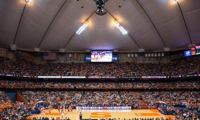 A Syracuse Orange basketball game against Cornell Big Red at the Carrier Dome in Syracuse, New York, on Nov. 8, 2013. (Brett Carlsen/Getty Images)