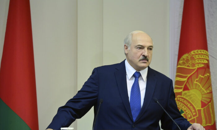 Belarusian President Alexander Lukashenko speaks during a cabinet meeting in Minsk, Belarus, on Sept. 10, 2020. (Andrei Stasevich/BelTA Pool Photo via AP)