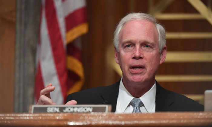 Senator Ron Johnson (R-Wisc.) on August 6, 2020 in Washington. (Toni Sandys/POOL/AFP)