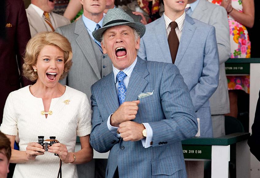"""man and woman yelling in """"Secretariat"""""""