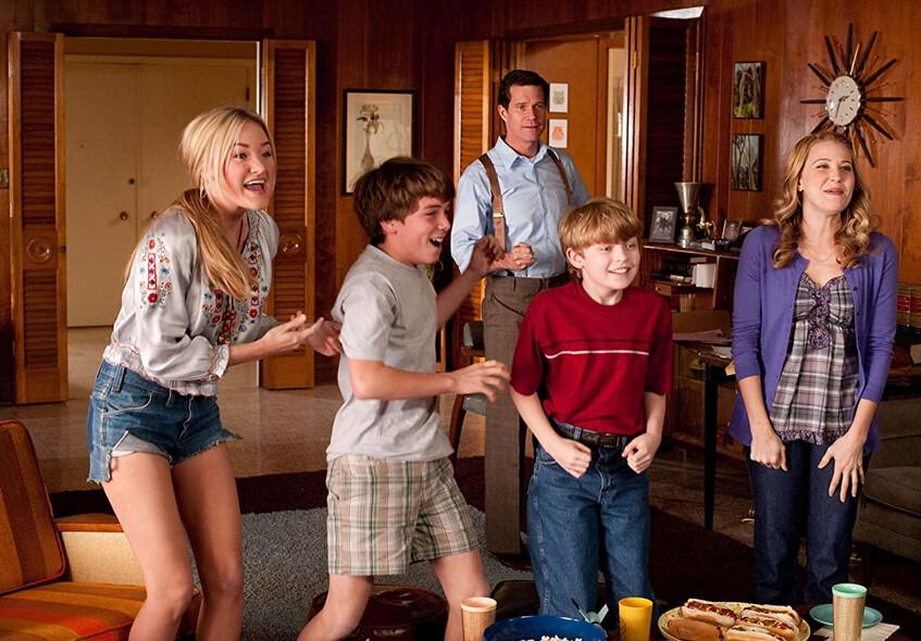 """family rejoices in front of TV in """"Secretariat"""""""