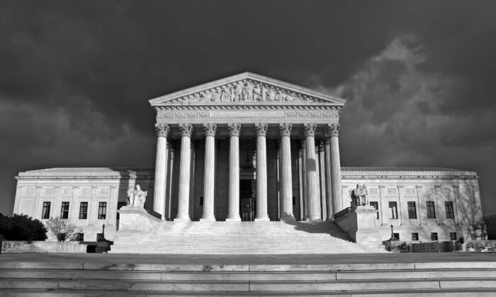 The design of the U.S. Supreme Court is based on a Roman basilica. (The History Press)
