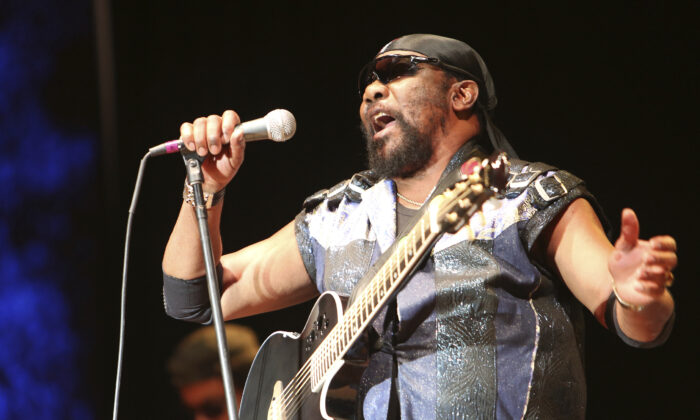 In this file photo, Toots Hibbert performs with the Maytals in Grass Valley, Calif., on July 13, 2019. (Elias Funez/The Union via AP)