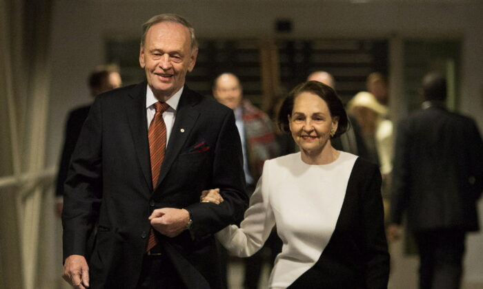 Former prime minister Jean Chretien and his wife Aline Chretien in Toronto in a file photo taken on Jan. 21, 2014. (The Canadian Press/Nathan Denette)