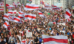 At Least 100,000 Belarus Protesters Rally Against Lukashenko