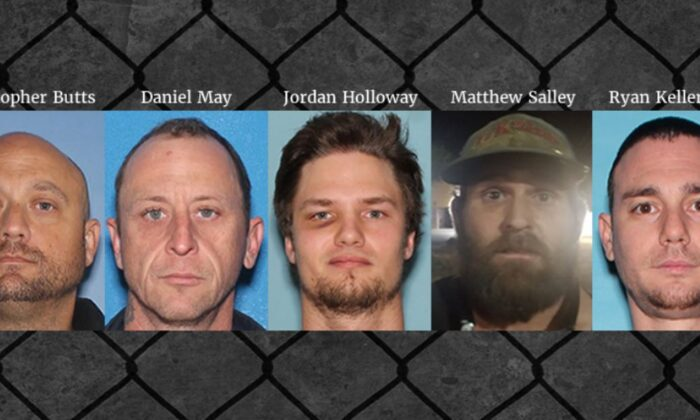 The five suspects in booking photos. (U.S. Immigration and Customs Enforcement's Homeland Security Investigations)