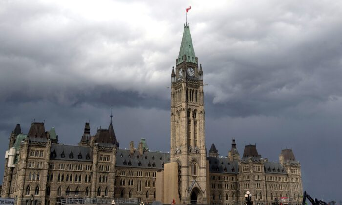 The Peace Tower and Parliament Hill in Ottawa on Aug. 18, 2020. (The Canadian Press/Adrian Wyld)