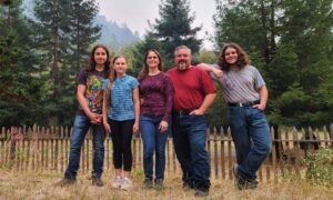 California Family Stays Behind to Defend Home From Wildfire