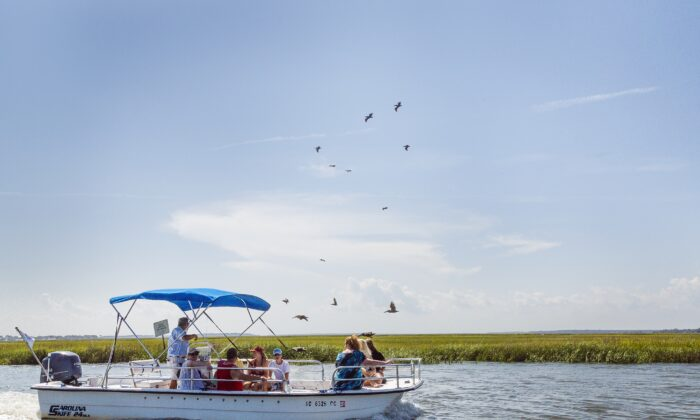 You can explore the waterways by boat. (Courtesy of Discover South Carolina)