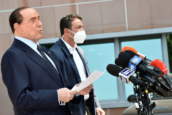 Former Italian Prime Minister Silvio Berlusconi is discharged from Milan's San Raffaele hospital
