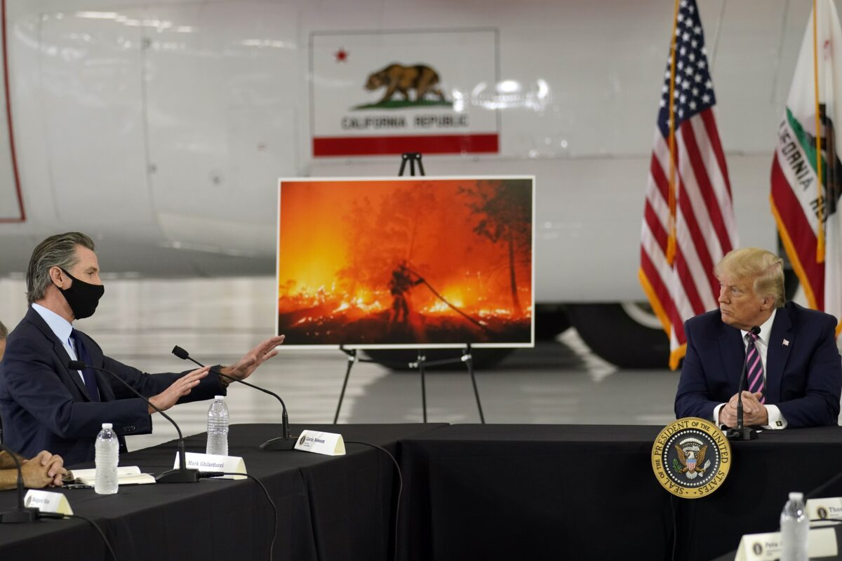 Trump Meets With California Governor for Briefing on Wildfires