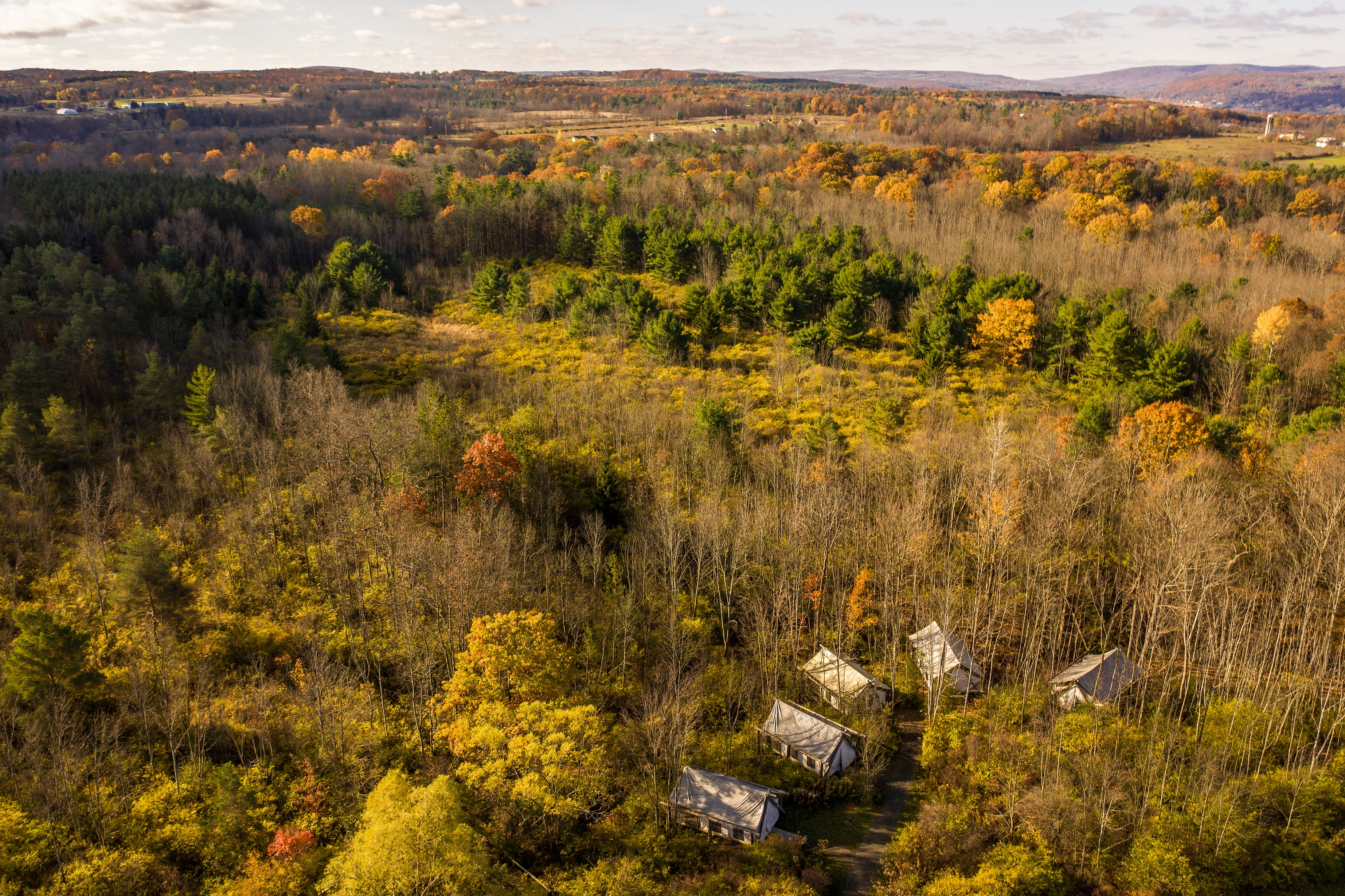 Fall Tents Drone by Sean Stalteri