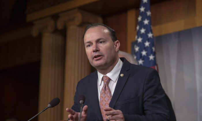 United States Senator Mike Lee on Capitol Hill in Washington on Dec. 13, 2018. (Tasos Katopodis/Getty Images)