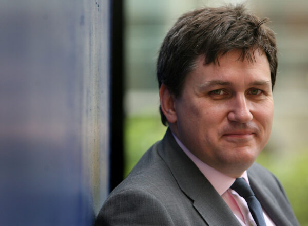 Kit Malthouse poses after speaking to press about the Metropolitan Police's Operation Blunt in London on May 29, 2008