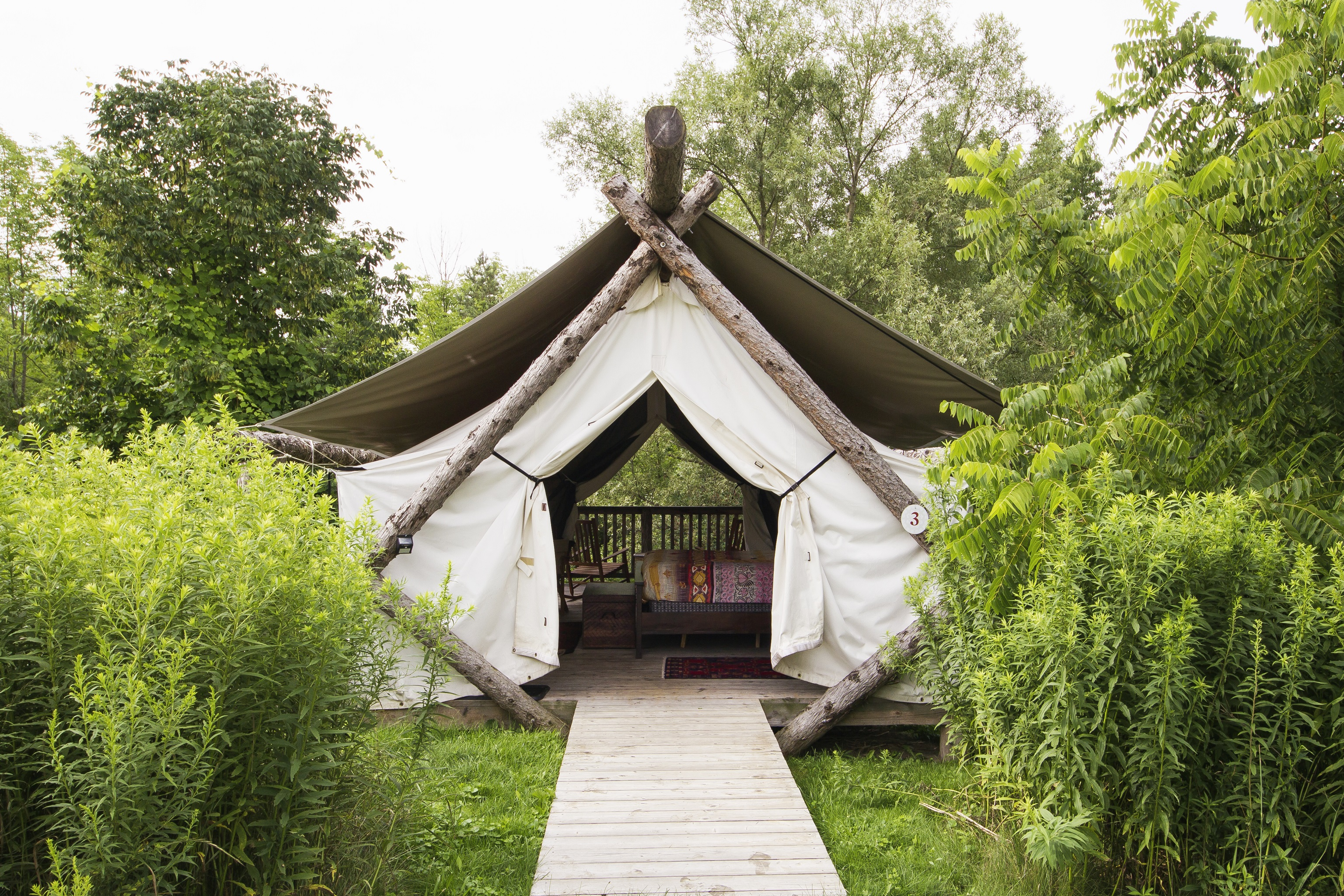 Tent Exterior Centered by Rita Kapoor Wojick