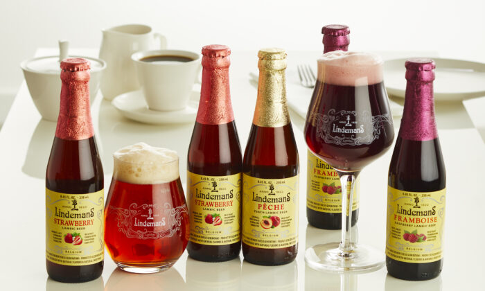 Lindemans fruit beers. (Courtesy of Merchant du Vin)