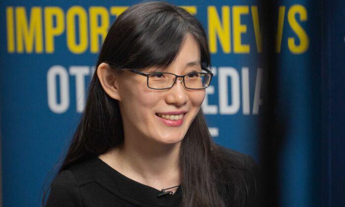Virologist Dr. Yan Limeng in Washington on July 28, 2020. (Brendon Fallon/The Epoch Times)