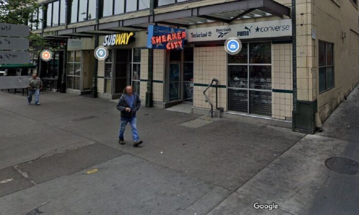 Sneaker City in Seattle in an undated photograph. (Google Maps)