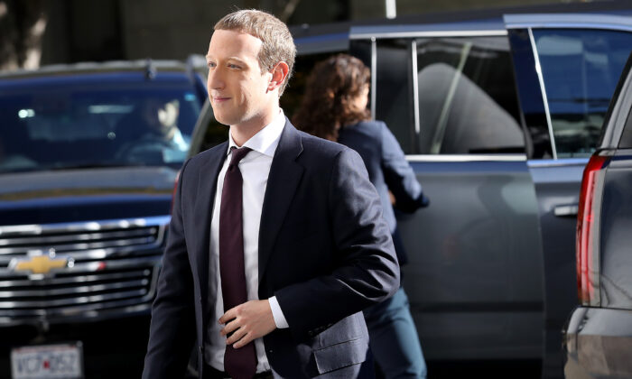 Facebook co-founder and CEO Mark Zuckerberg arrives for testimony on Capitol Hill in Washington on Oct. 23, 2019.    (Win McNamee/Getty Images)