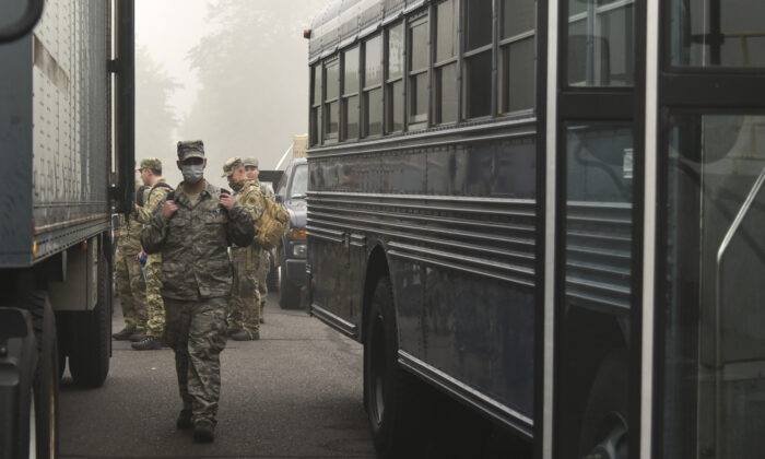 National Guard members are seen in a file photo. (U.S. Air National Guard photo by Senior Airman Valerie R. Seelye)