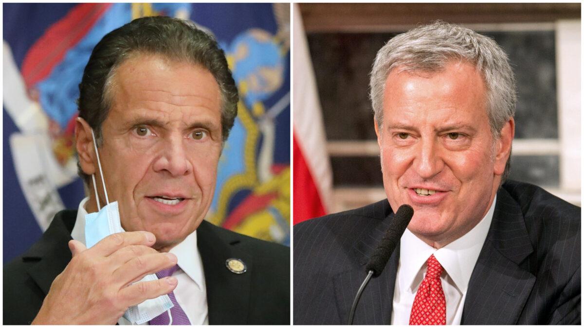 Gov Andrew Cuomo and Mayor Bill de Blasio