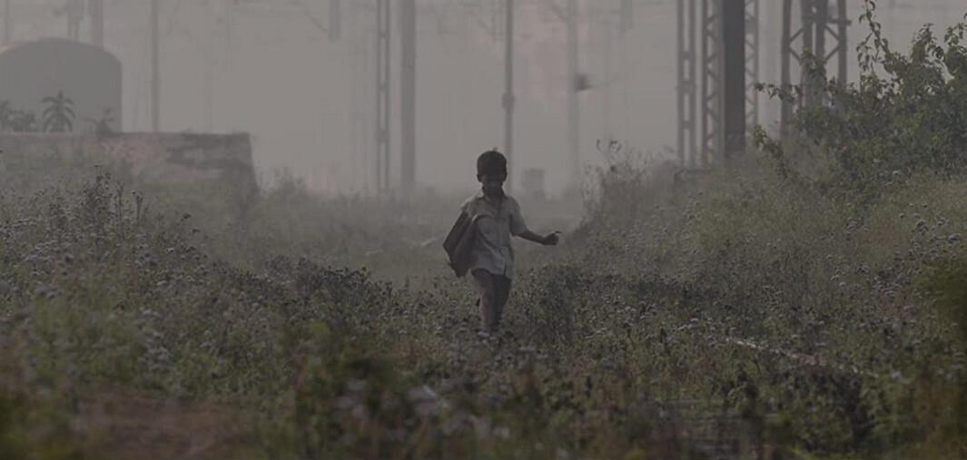 """boy wanders on railroad tracks in """"Lion"""""""