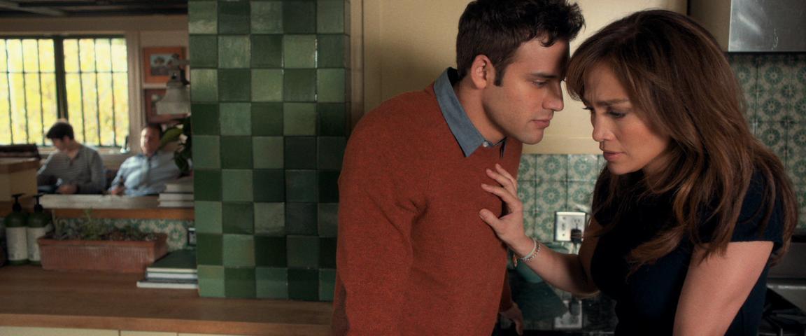 """woman pushes man away in """"The Boy Next Door"""""""