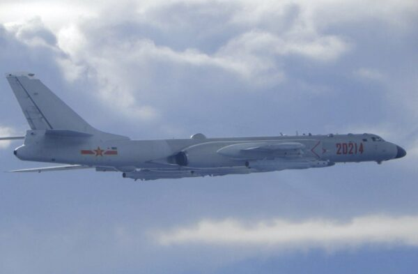 A Chinese People's Liberation Army H-6 bomber